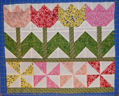 Inspired by Fabric: Tutorial: Tulip Time Wall Hanging