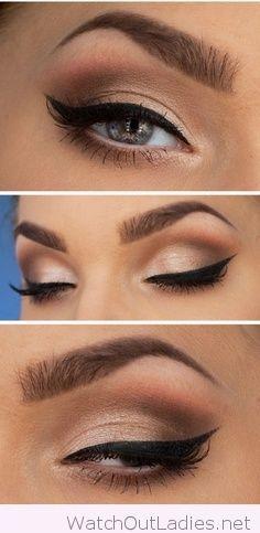 Amazing winged eyeliner and beautiful eyes