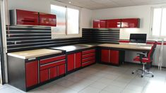 Garage Storage Systems Including Shelf, Closet, Racks, Shoes and Other Workshop . Garage Storage S Garage Work Bench, Barn Garage, Mechanic Garage, Garage Shop, Garage Doors, Garage Storage Systems, Garage Decor, Garage Design, Garage Floor Paint