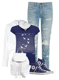 """""""Untitled #427"""" by seahag2903 ❤ liked on Polyvore featuring rag & bone, Converse, Lareida, Barbour and Rebecca Minkoff"""