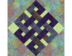 Eternity Knot rotary quick cut quilt block by PieceByNumberQuilts
