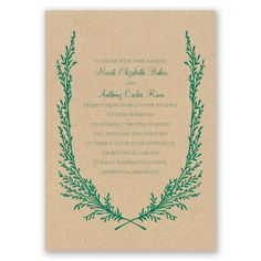 growing together I kraft paper wedding invitation