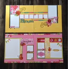 Create with Liz: Brushed Scrapbook Layouts - Spring is just around the corner!