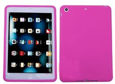 """Amazon.com: Magenta Pink {Simple Matte Plain} Soft and Smooth Silicone Cute 3D Fitted Bumper Back Cover Gel Case for iPad Mini 1, 2 and 3 by Apple """"Durable and Slim Flexible Fashion Cover with Amazing Design"""": Computers & Accessories"""
