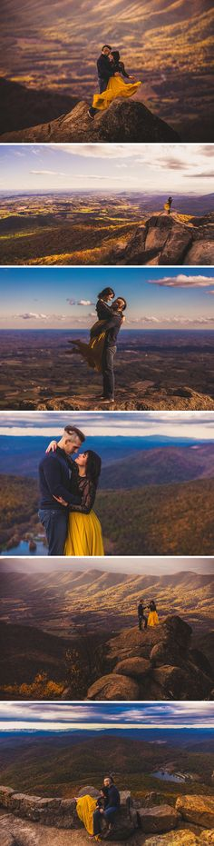 Sharp Top Mountain Engagement Session | Mountaintop Engagement Session | Virginia Wedding Photographer