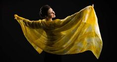 Products hand painted habotai silk veils & scarves