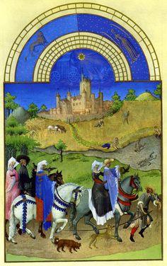 August - Les Tres Riches Heures du duc de Berry, Limbourg brothers c.1416