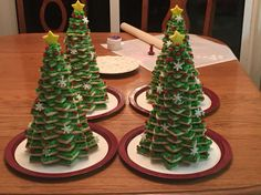 My sugar cookies trees - Sweet Blessing Cakes by Stephanie Garst