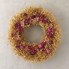 Strawflower & Amaranth Wreath