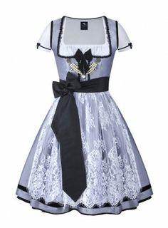 Anina W Dirndl Colette 233, Chanel - style Dirndl made from raw silk, lache and velvet