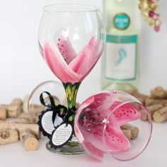 how to paint daisy on wine glass - Google Search