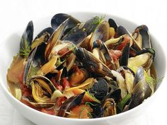 Steamed Mussels with Fennel and Tomato from FoodNetwork.com