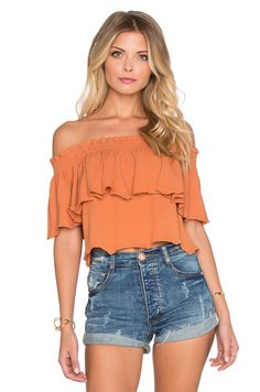 Somedays Lovin Bohemia Off The Shoulder Top in Brick