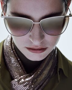 The Veronica Sunglasses features a soft cat-eye style with a thin metal profile.  #TOMFORD #TFEYEWEAR