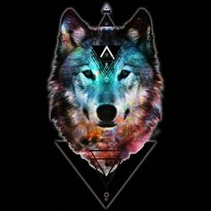 Sacred Wolf is a T Shirt designed by shannontoohey to illustrate your life and is available at Design By Humans Wolf Outline, Galaxy Wolf, Tribal Wolf, Wolf Artwork, Wolf Painting, Fantasy Wolf, Wolf T Shirt, Wolf Wallpaper, Wolf Love