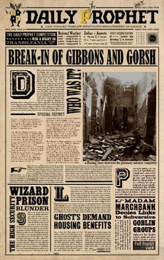Daily Prophet: Break-in of Gibbons & Gorsh