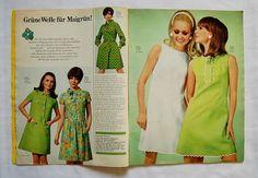 Sechziger Jahre Schnittmuster - Neue Mode 5/68 - 50er + 60er Vintage-Zeitschriften von zuzsa - Schnittmuster - Material - DaWanda