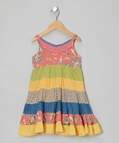 Take a look at this Pink Java Butterfly Dress - Girls by Little Handprint on #zulily today!