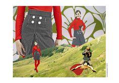 fashion victim - collage by Vanessa Deussen, via Behance