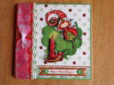 3D Christmas card with Christmas fairy - 3D kerstkaart met kerstfee