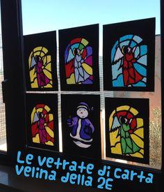 Le vetrate di carta velina www.allegrarte.blogspot.com