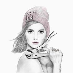 Cancer by LiaGliavu #liagliavu #horoscope #illustration