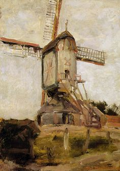 "dappledwithshadow: "" Mill of Heeswijk Sun, Piet Mondrian c. 1905 """