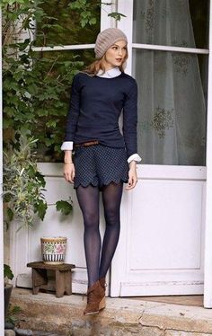 Women Dresses Dear stitch fix stylist… I probably could have pulled off this shorts with tights look when I was but I still think it's cute. Mode Outfits, Casual Outfits, Fashion Outfits, Womens Fashion, Fashion Clothes, Fashion Ideas, Fall Winter Outfits, Autumn Winter Fashion, Winter Shorts Outfits