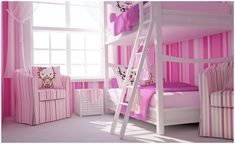 Really cool kids' bedroom ideas.  I was attracted to the Hello Kitty bedroom, but there is rock climbing and a bunch of others too.