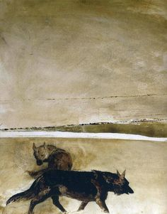 """""""Wolves"""", Andrew Wyeth."""