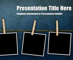 Peg Grunge PowerPoint template is another free background template for Microsoft PowerPoint that you can download to make presentations