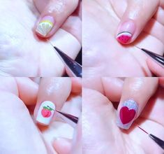 Simple Nail Art Videos, Nail Art Designs Videos, Best Nail Art Designs, Red Nail Art, Red Nails, Nail Art For Beginners, Minimalist Nails, Nail Art Hacks, Halloween Nails