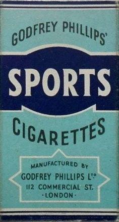 Sports #vintage #cigarette #pack #design