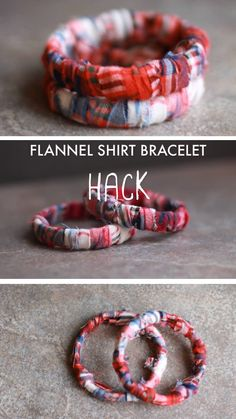 An easy no-glue flannel bracelet is a fun way to show off that flannel love without any messy hot glue! You simply tie strands of the flannel short together and wrap. You will love making this with your kids! Save this pin to your DIY board! Diy Bracelets To Sell, Fabric Bracelets, Silk Thread Bangles, Textile Jewelry, Fabric Jewelry, Diy Resin Crafts, Jewelry Crafts, Dainty Jewelry, Handmade Jewelry