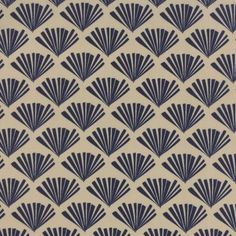 Sherri & Chelsi 'Valley' Printed Cotton Fabric - Fringe Navy | Ray Stitch