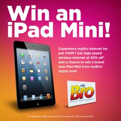 Get plan 999 at w/ speed of up to + get a chance to win an iPad mini! New Ipad, High Speed, Ipad Mini, Surfing, How To Apply, How To Plan, Surf, Surfs Up, Surfs