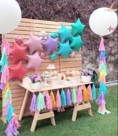 Rainbow Unicorn Party, Rainbow Birthday Party, Unicorn Birthday Parties, Balloon Decorations, Birthday Party Decorations, Birthday Backdrop, Little Pony Party, Fiesta Party, Party Time