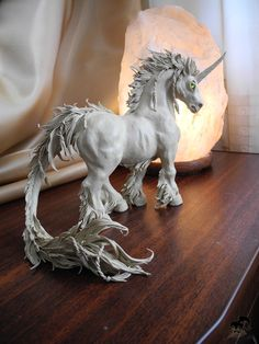 Unicorn sculpture made from plasticine