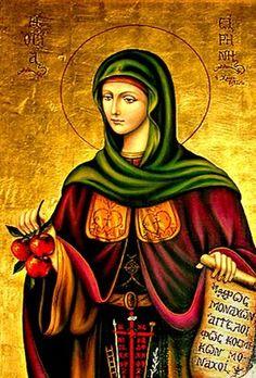 Irene Chrysovalantou She developed the gifts of foresight and exorcism. Catholic Art, Catholic Saints, Patron Saints, Christian Symbols, Christian Faith, Religious Images, Religious Art, Religious Paintings, Byzantine Icons