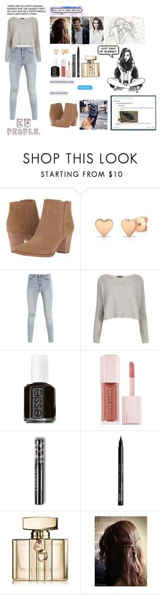 """A very happy start"" by youngwhippersnapper ❤ liked on Polyvore featuring Franco Sarto, Topshop, Essie, Puma, NYX, Gucci and Rocio"