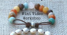 Leather Infinity Links Video Workshop   by Tracy Statler     Leather  in accessories is hot, hot, hot! I think I've said this before, b...