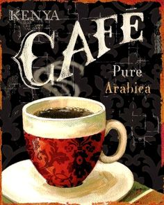 ☕ Coffee ♥ Craft ☕ Toni Kami Kenya café Arabica coffee art