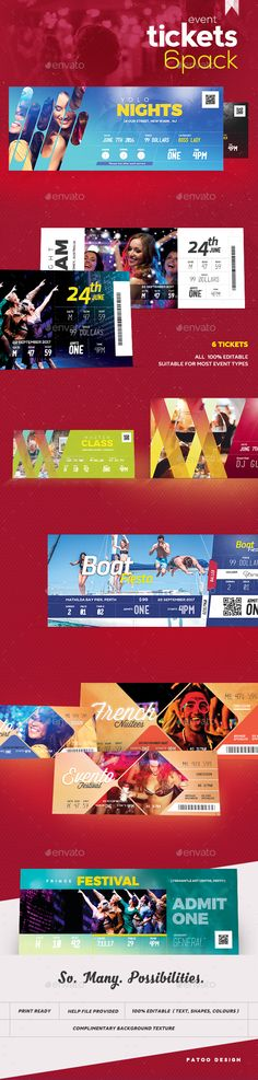 Multipurpose Event Ticket | Ticket Template, Event Ticket And