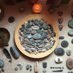 My zen bowl of rocks.