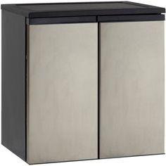 Avanti 5.5 Cu Ft Side-by-Side Refrigerator/Freezer, Stainless Steel
