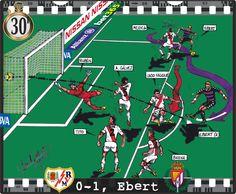 Rayo Vallecano, 0 - Real Valladolid, 1 - Patrick Ebert