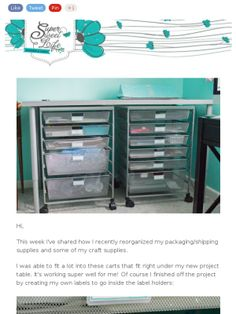 Check out this Mad Mimi newsletter - Craft Supplies Organization