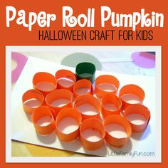 Halloween craft for kids. Halloween craft for preschool. So easy and cute! and fill the holes with cany the put a piece of papper on top and a googly eye super cute and sweet