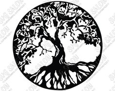 Tree of Life Cutting File in SVG EPS DXF JPEG and PNG