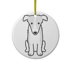 Borzoi Dog Cartoon Ornaments